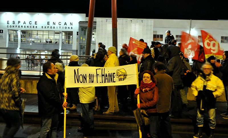 Manifestants anti FN