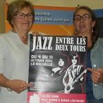 #ScèneOuverte le 03/10/14 avec Annie Géhaut et Dolorès Brumeau pour la promo du festival Jazz entre les deux tours