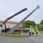Marennes : un poteau ERDF de 28 mètres de haut a été «abattu»