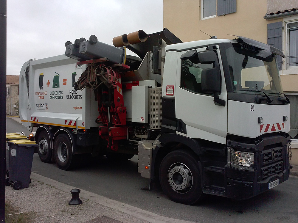 camion benne cyclad
