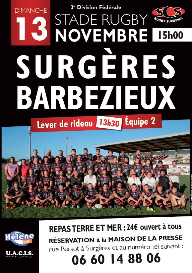 rugby surgères 131116