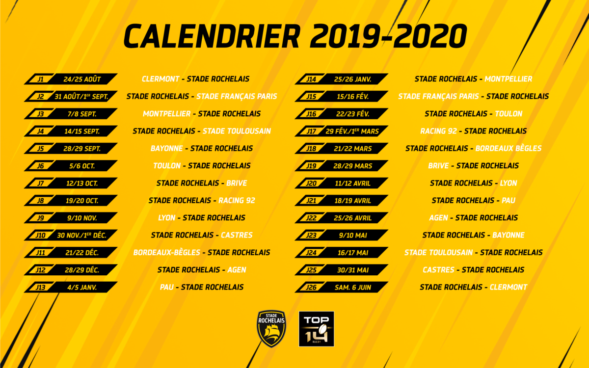 Calendrier Top 14 2020.Rugby Le Calendrier De Top 14 Devoile Vogue Radio